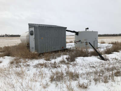 separator and skidded shack