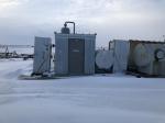 Separator building and methanol tank