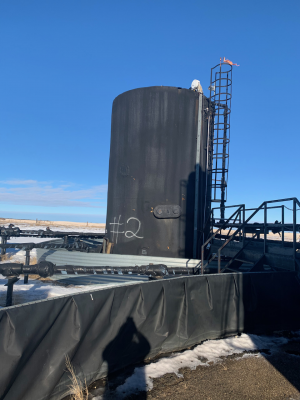 2 x 750bbl tanks insulated