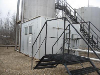skidded pump transfer building