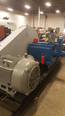"165 horsepower 5"" stroke horizontal triplex single acting plunger pump."
