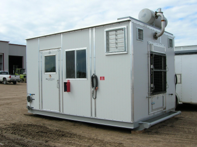 95 hp skid mounted screw compressor package. brand new!
