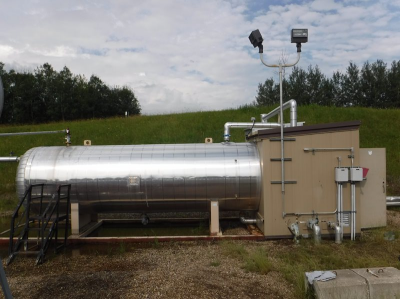 free water knockout/ treater. 6' x 20'