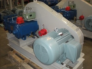 40hp electric motor/ national oilwell triplex pump 59t