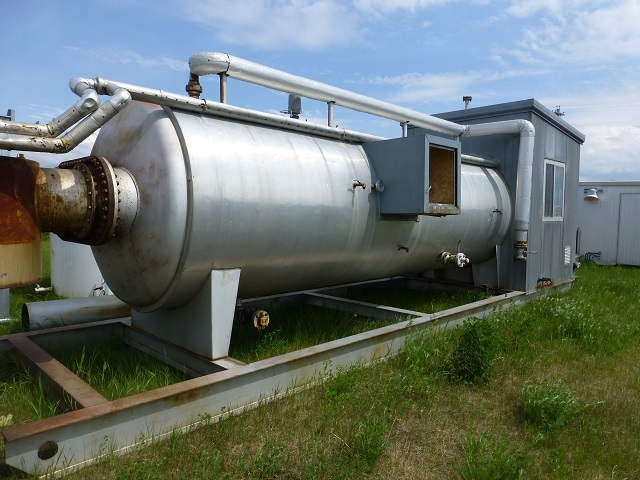 sour treater, 5' x 20', horizontal, 75 psi