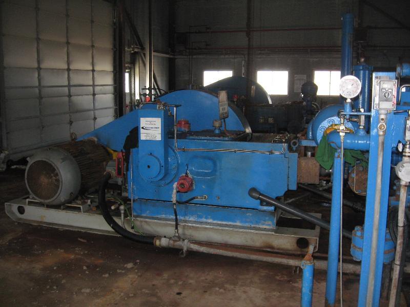 oilwell a-316h triplex, w/ siemens 200 hp electric motor